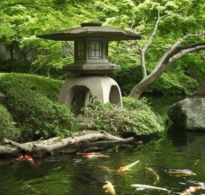 Garten japanischer stil  japanischer-garten-teich-undskulpturen-japanischer-stil ...