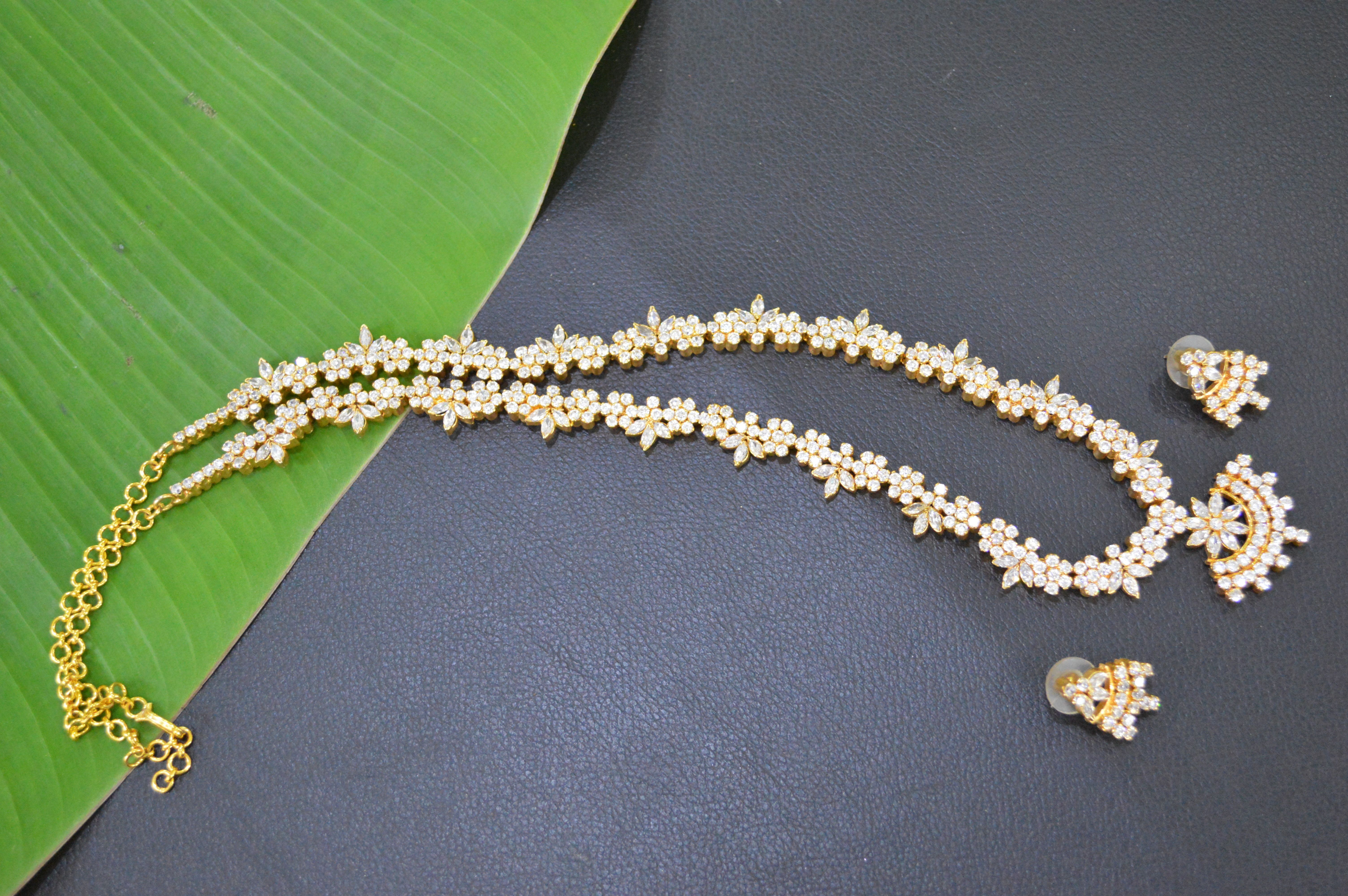 CZ Haram 1 gm gold or imitation jewelry Chaitra Jewells