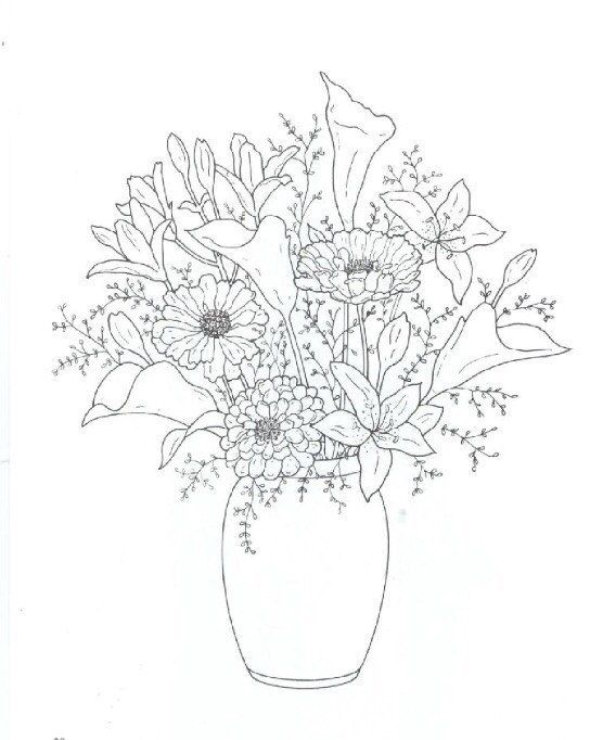 Iraida Cehosh Flower Coloring Pages Flower Drawing Coloring Books