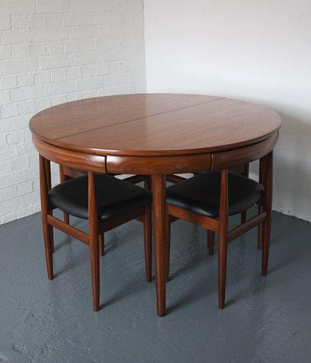 Hans Olsen; Teak And Afromosia Dining Set For Frem Rojle, 1962.