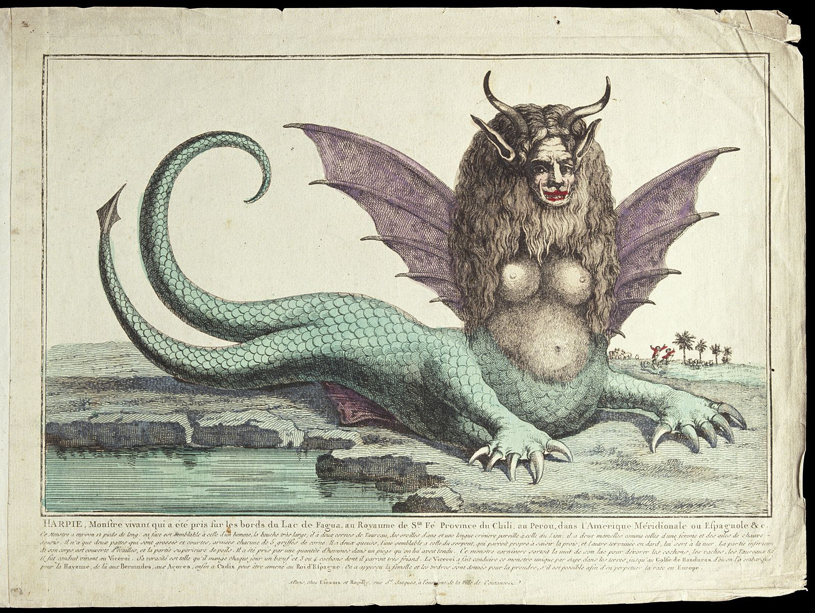 1596px-A_harpy_with_two_tails,_horns,_fangs,_winged_ears,_and_long_Wellcome_V0023077.jpg (1596×1200)