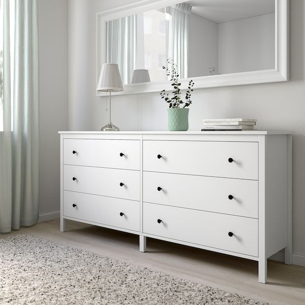 Koppang Commode A 6 Tiroirs Blanc Ikea Bedroom Chest Of