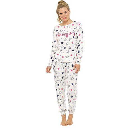 c901aa5f49 Ladies Glitter Print Cuffed Bottom Soft Jersey Long PJs  Snoozing Stars