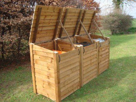 Outdoor Triple Wheelie Bin Storage Unit Heavy Duty