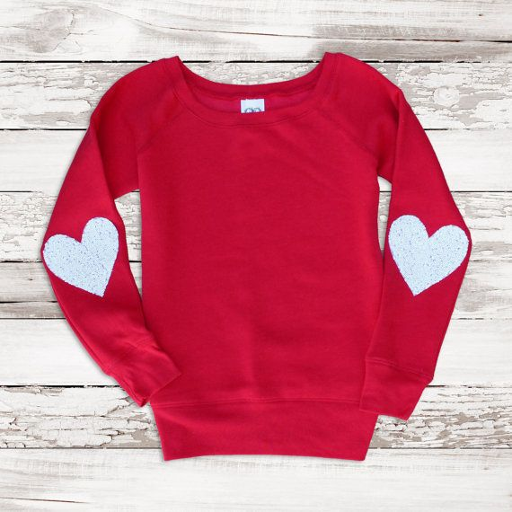 Valentine Heart Patch Elbow Tunic