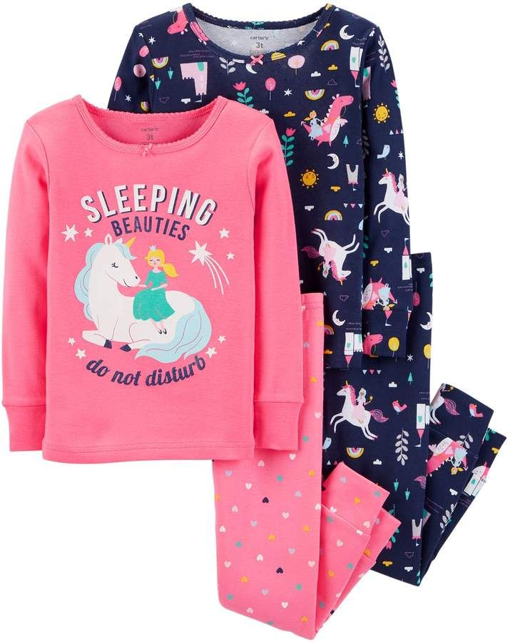 bfbd8ffb3 Toddler Girl Carter s Unicorn Tops   Bottoms Pajama Set