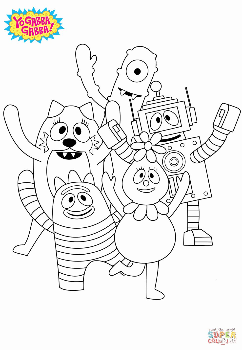 Yo Gabba Gabba Coloring Pages Elegant Yo Gabba Gabba Coloring Page Free Printable Coloring Pages Free Printable Coloring Coloring Pages