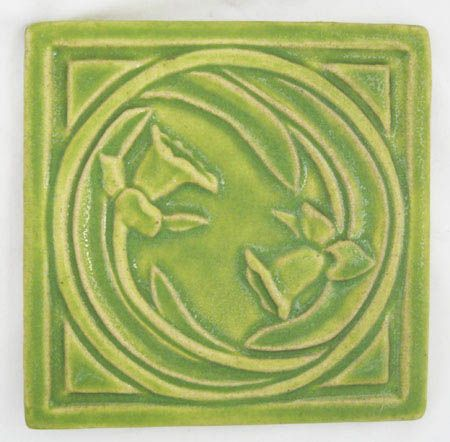 Pewabic Pottery Daffodil Tile Missio Style Detroit Original Birthday Flower Perfection Pewabic Pottery Tile Art Arts Crafts Style