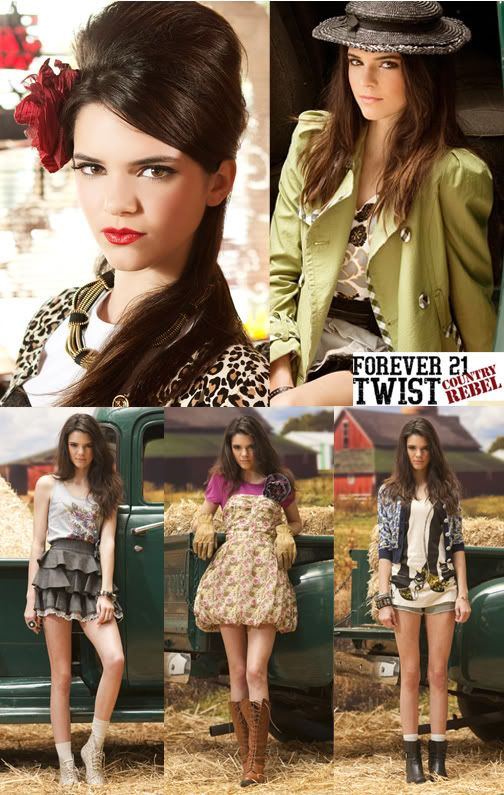 67f2fac34bb Jenner s first modeling job was the Rocker Babes With A Twist campaign for Forever  21 ...