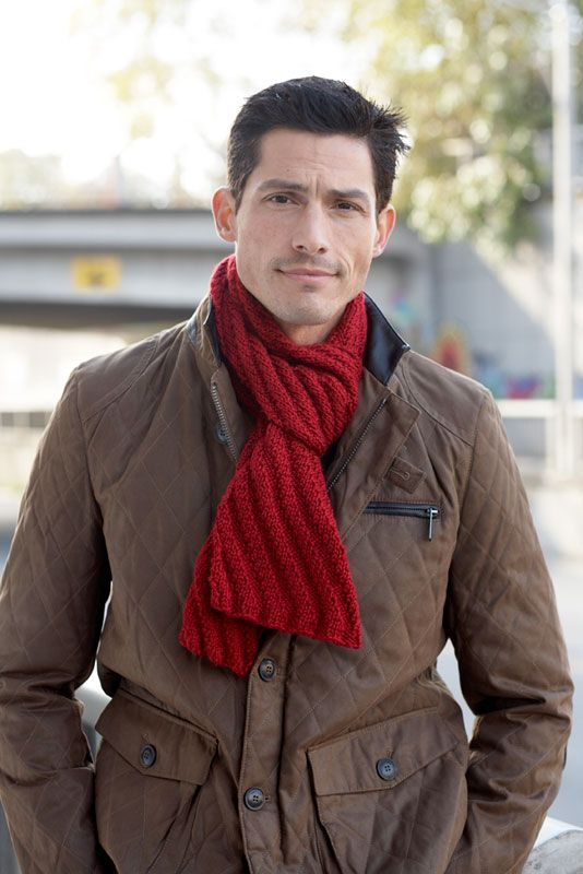 Steep Diagonal Scarf plus 5 other scarf patterns for men (or women ...