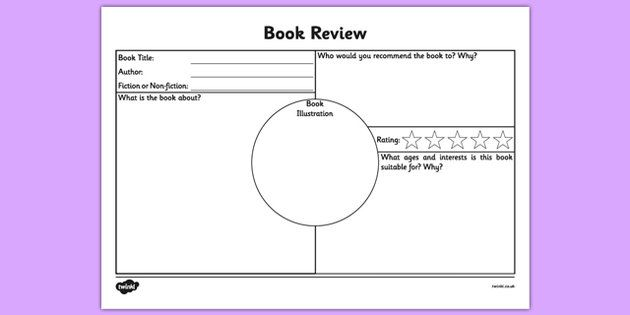 Book Review Worksheet Projects To Try Pinterest Book