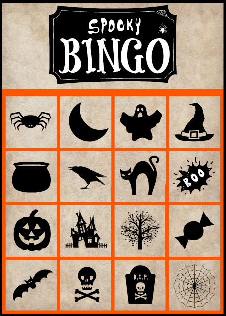 photograph relating to 25 Printable Halloween Bingo Cards referred to as Spooky Halloween Bingo Playing cards- Free of charge Printable Foodie