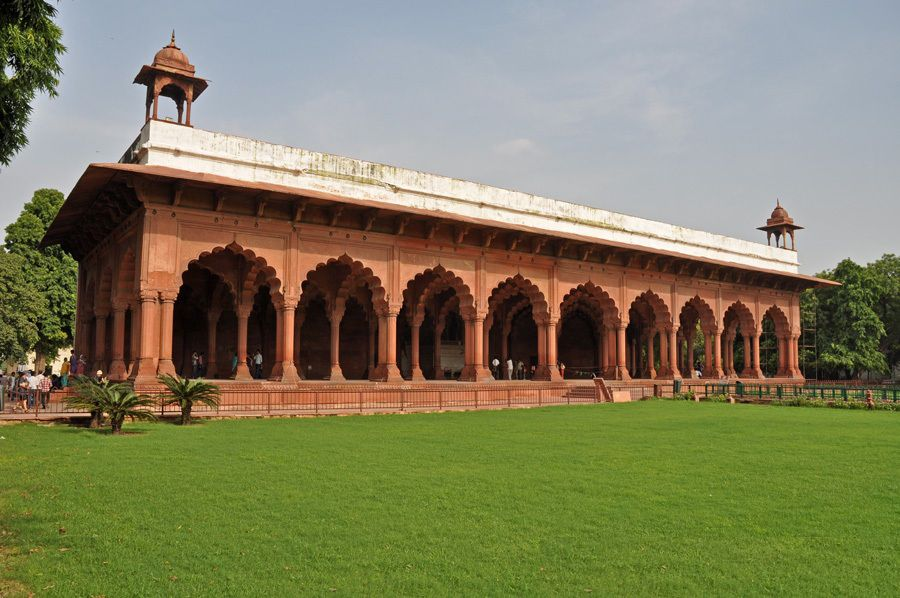The arches of Diwan-i-Aam, Red Fort, UNESCO World Heritage