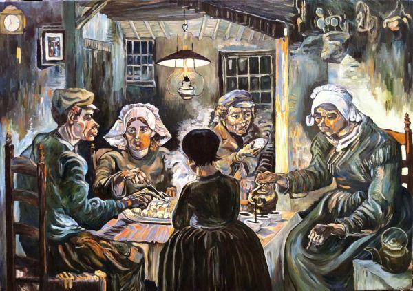 comedores de papas | Van gogh, Vincent van gogh y Van gogh arte