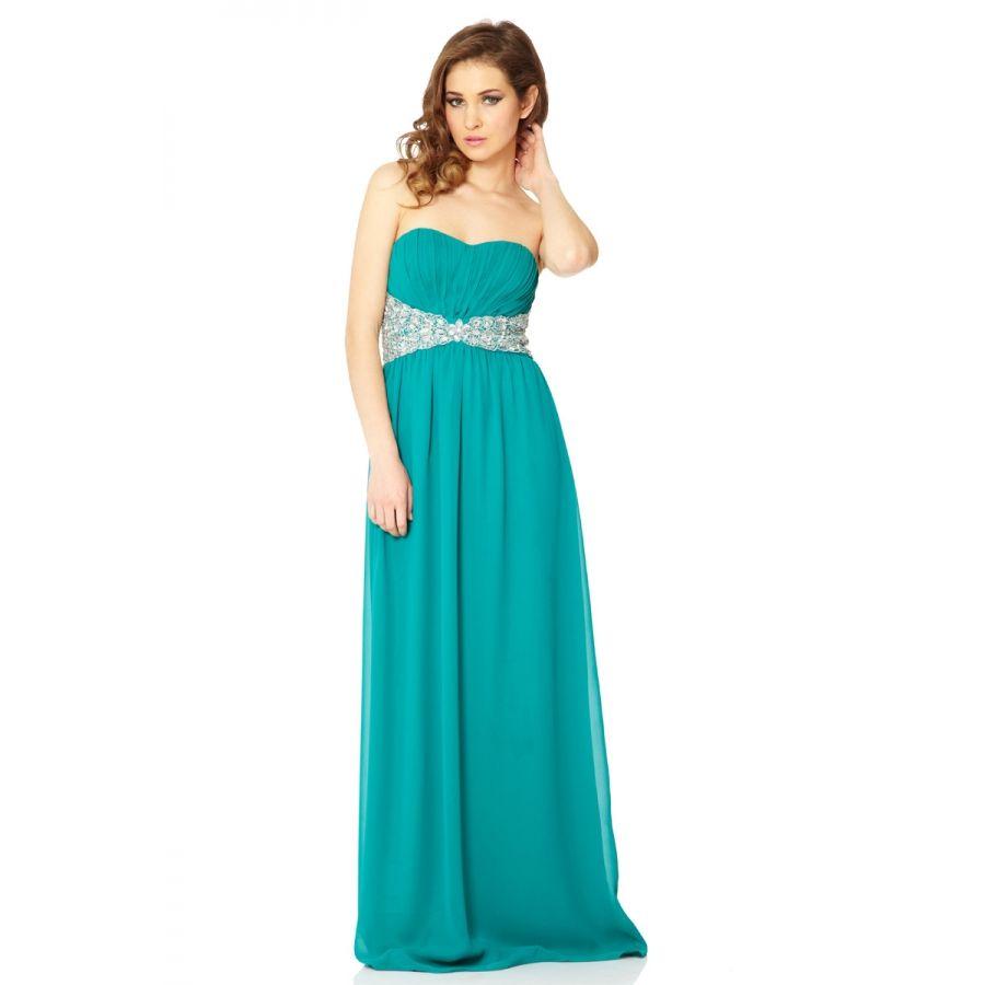 Jade Embellished Bandeau Maxi Dress - Quiz Clothing | quiz clothing ...