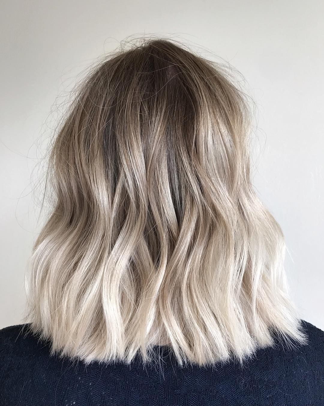 "@tbdhair on Instagram: ""cool toned balayage with a hint of silver @wellahair @lorealhair @dysonhair @ghdhair @theouai #blondehair #blonde #balayage…"""