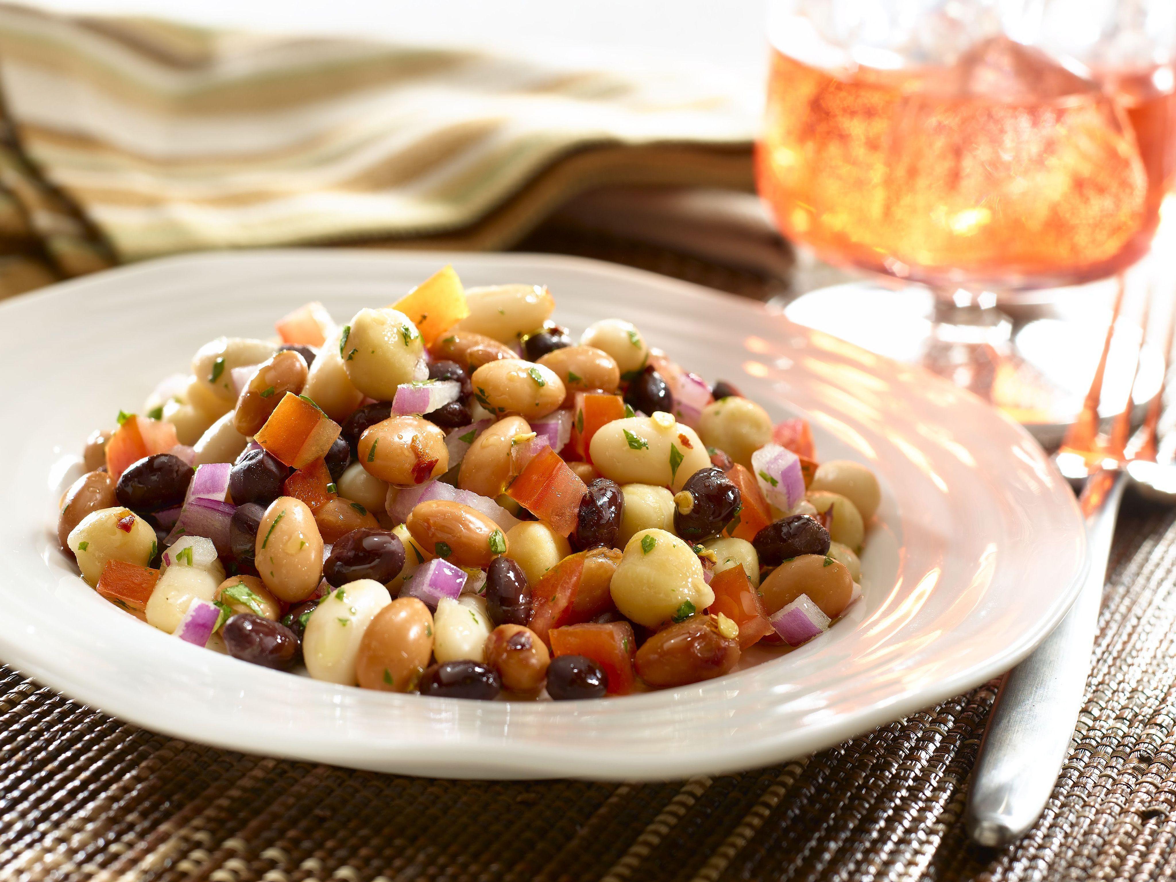 Tri Bean Salad With Vinaigrette Recipe Four Bean Salad Three Bean Salad Bean Salad Recipes