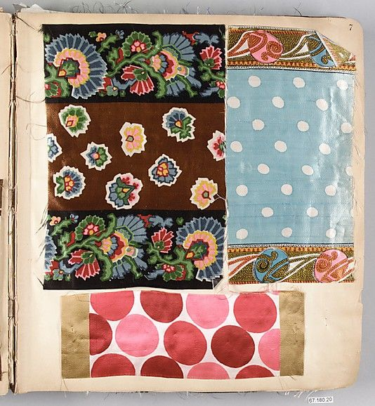 Textile sample book.