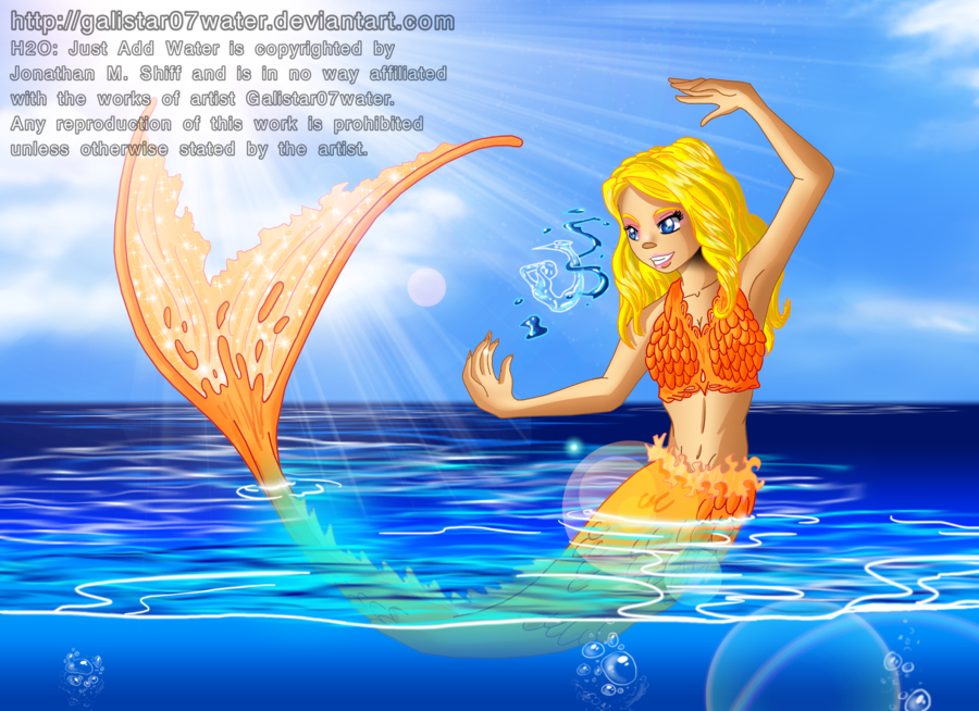 A Fan Art Of Bella From H2o Just Add Water Using Her 2nd Mermaid Magical Power Substanciakinesis The Ability To Turn W Water Art Water Drawing Mako Mermaids