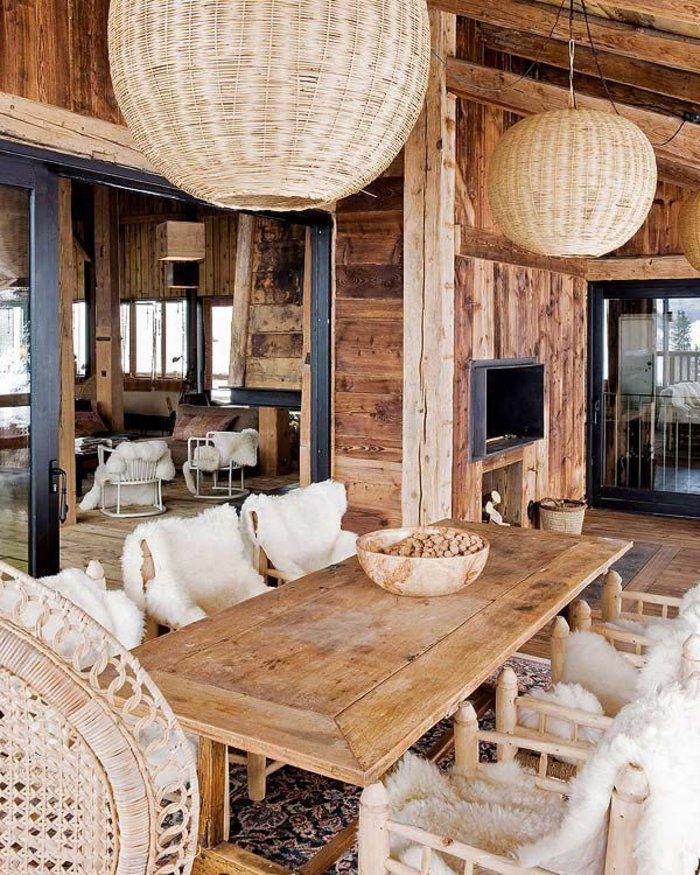 quel type d int rieur pour votre chalet en bois habitable chalet de luxe murs en bois et les. Black Bedroom Furniture Sets. Home Design Ideas