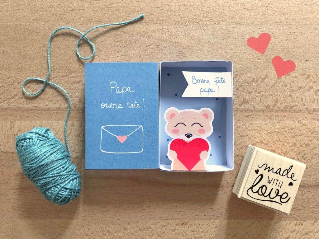 [DIY] Spécial fête des pères – Une petite boîte à message «Bonne fête papa» (modèle à télécharger)   Dessine-moi une licorne – Helin&FêteDesPères