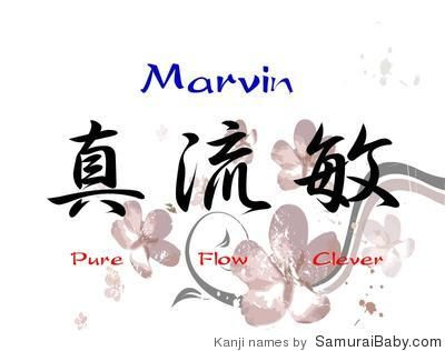 Meaning Of Name Marvin Kanji Meanings Gallery Barry Beckham