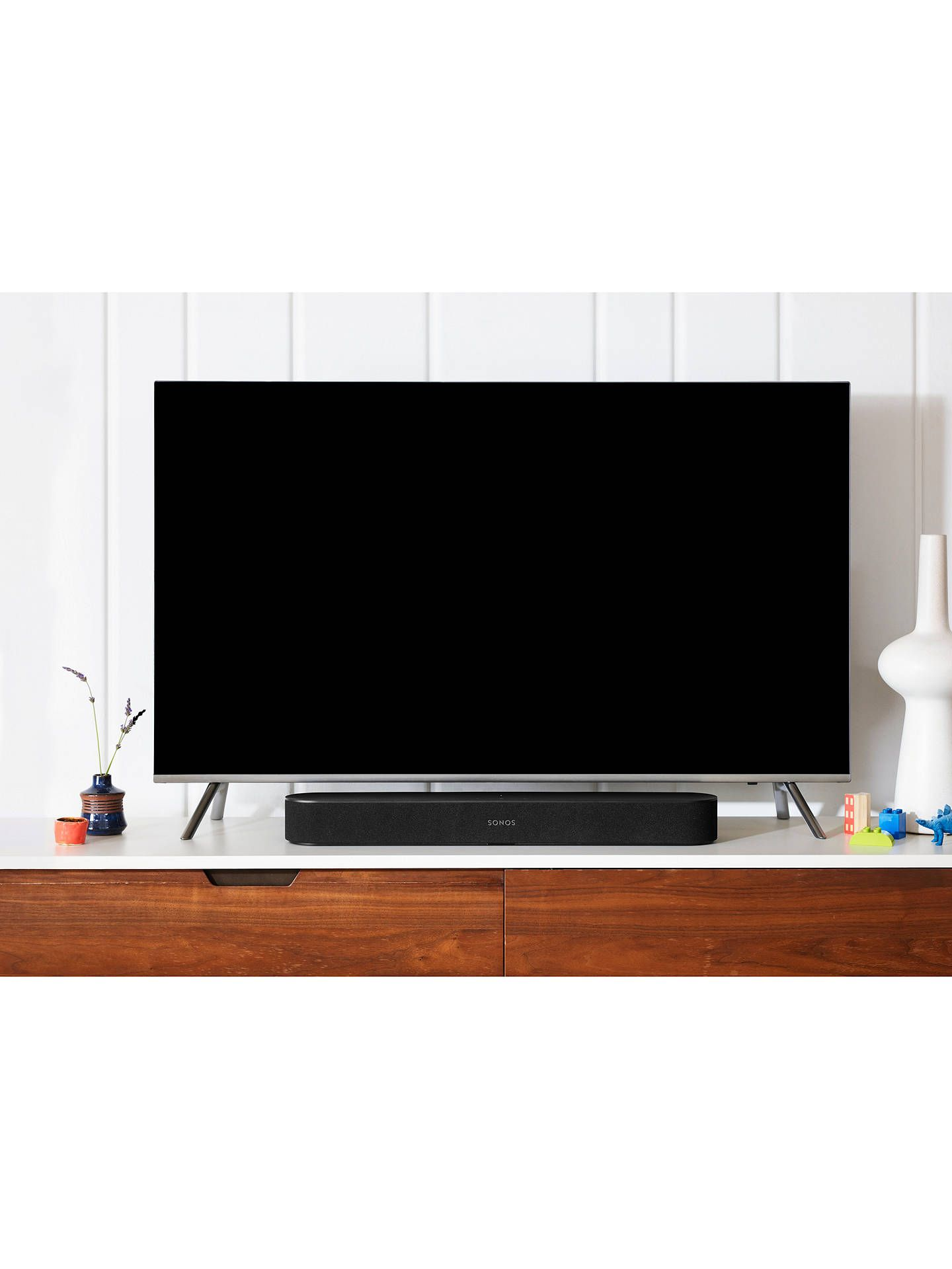 Sonos Beam Compact Smart Sound Bar with Voice Control