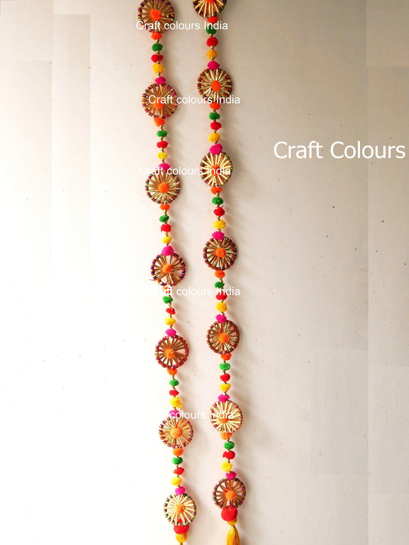 56 Set Of 2 Toran Door Hanging Diwali Decoration Door Valence