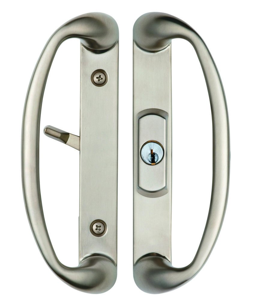 Good Rockwell Sonoma Sliding Door Handle With Keylocking Cylinder In Brushed  Nickel Finish