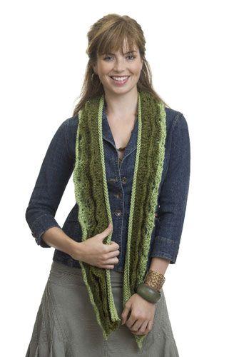 Caron International - Knit Layered Scarf (knit) | Scarf ...