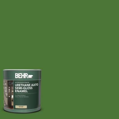 Behr 1 Qt P380 7 Luck Of The Irish Semi Gloss Enamel Urethane Alkyd Interior Exterior Paint 393004 The Home Depot Behr Ultra Exterior Paint Behr