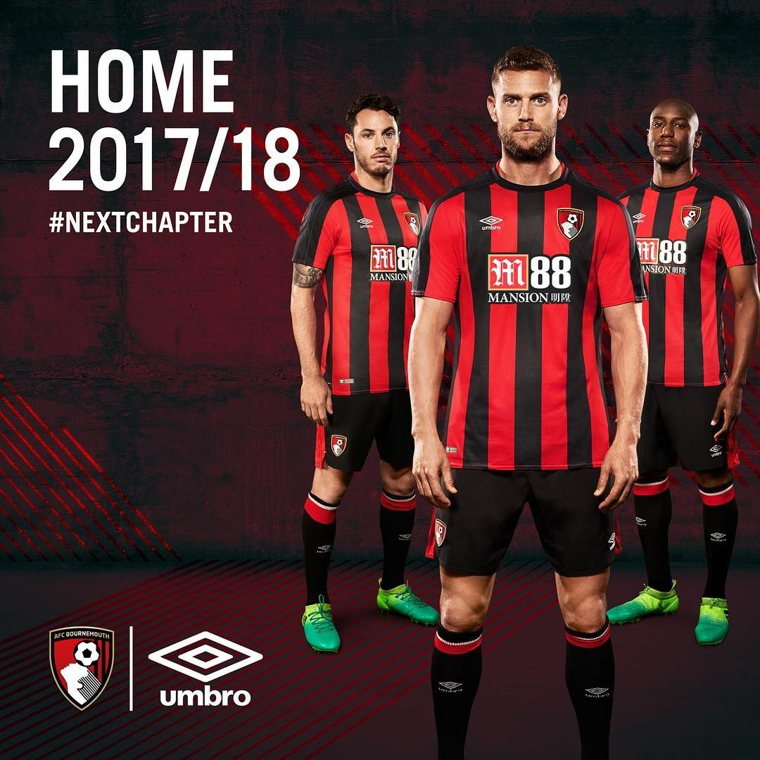 ... 68 reacties - AFC Bournemouth ( officialafcb) op Instagram   It s time.  Our  NextChapter begins... Introducing our new 2017 18  umbro home kit.   afcb   89eab4559