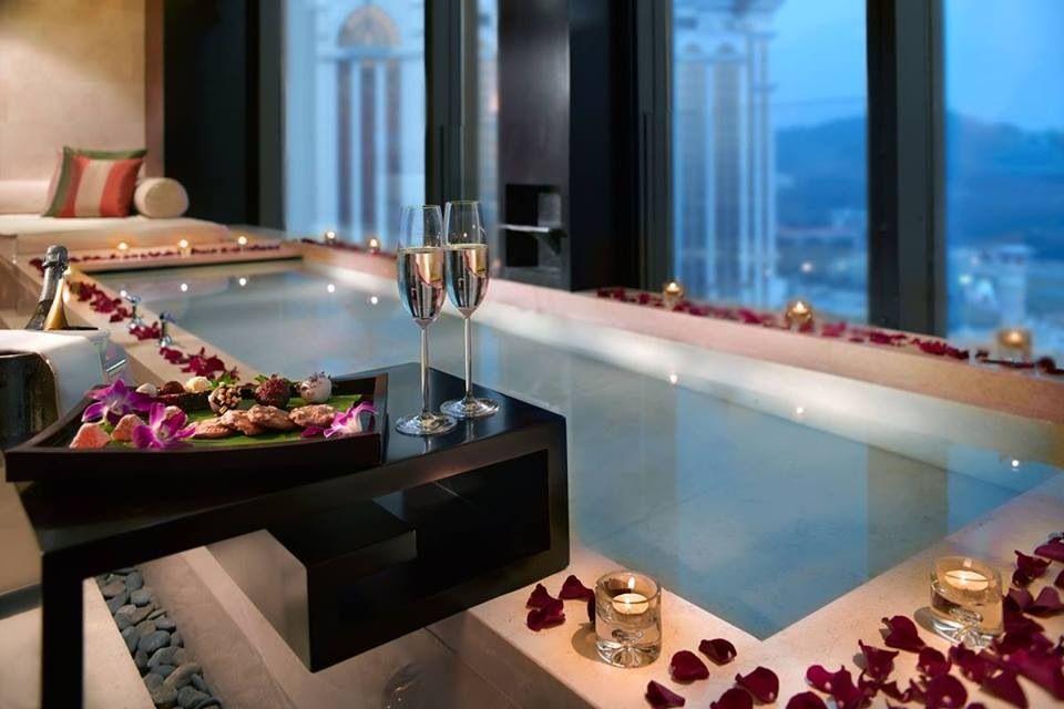 Romantic home spa