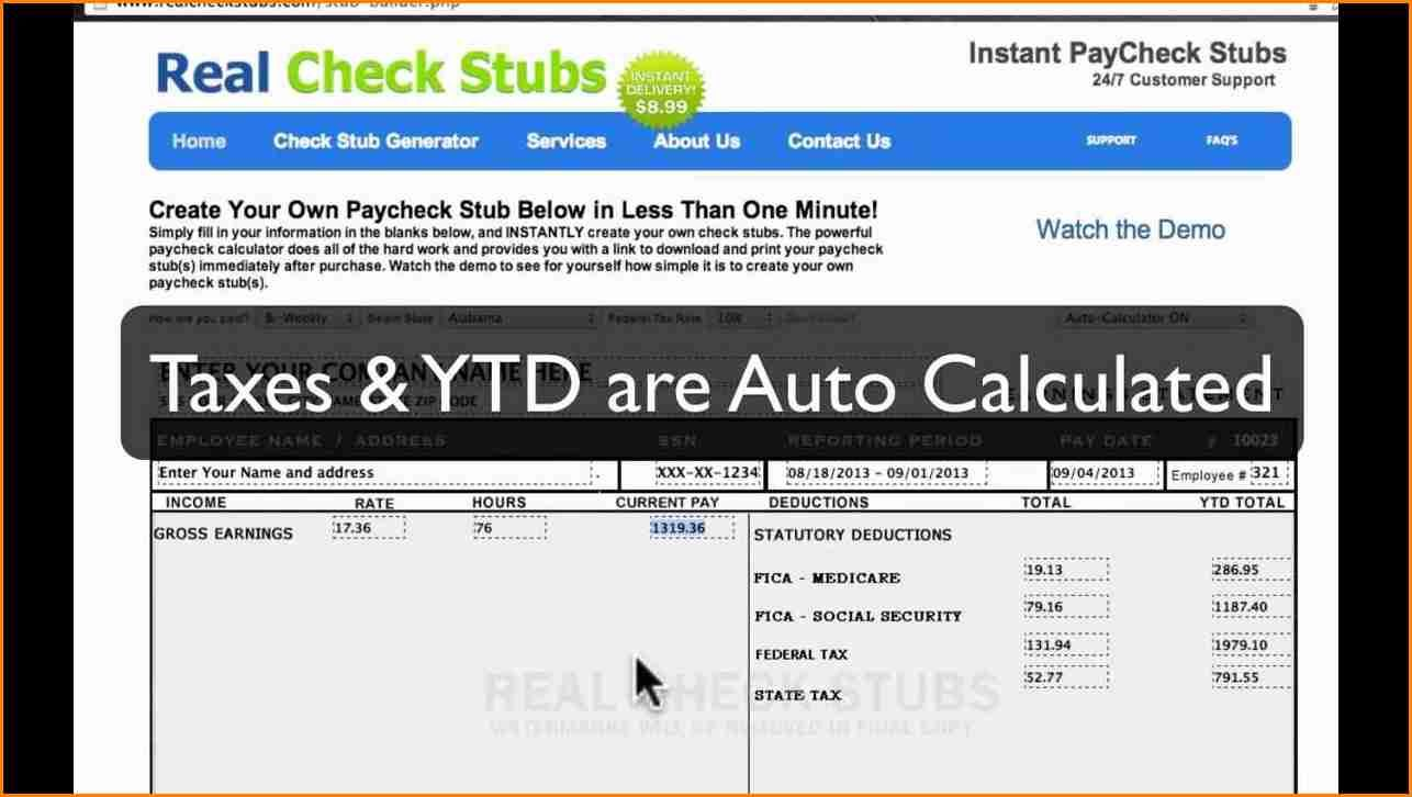 11 How To Make Fake Paycheck Stubs Free Simple Salary Slip Paycheck Payroll Checks Letter Templates