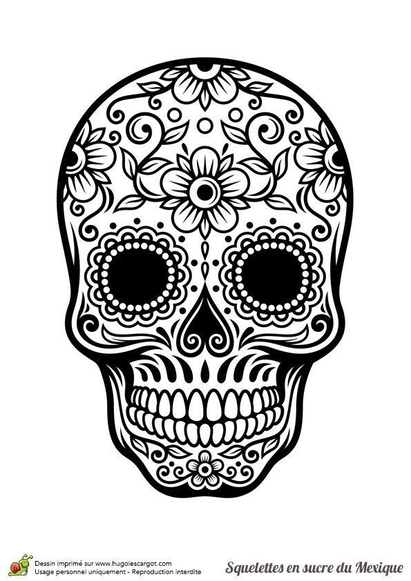 coloriage a imprimer tete de mort