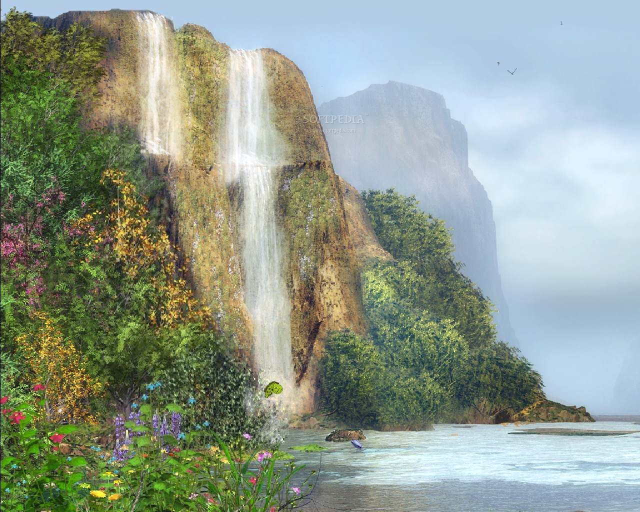 3D Moving Waterfall Desktop Backgrounds http//www