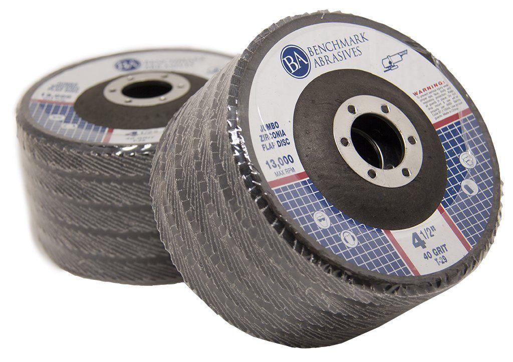 10 Pack 40 Grit 4.5 x 7//8 Premium Ceramic Flap Discs Type 29