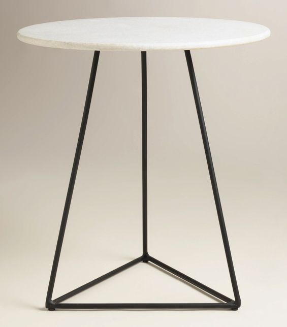 Marble Top Accent Table Marble Side Table Pinterest Marble Top - Geometric marble coffee table