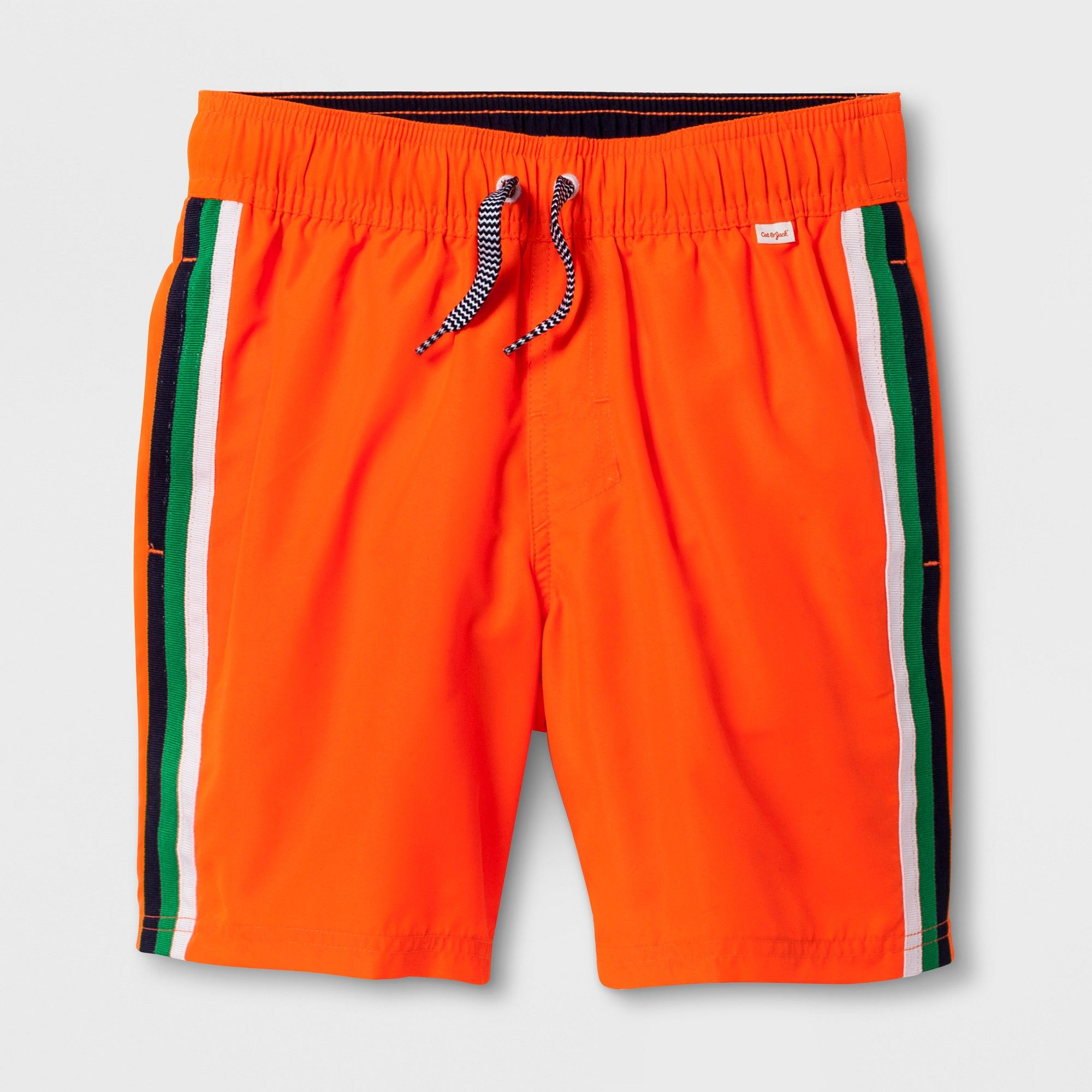 Boysu stripe volley swim trunks cat u jack orange m husky