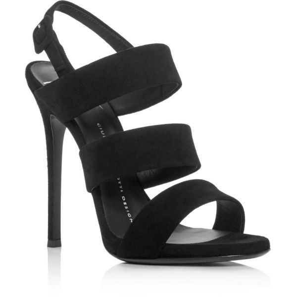 Giuseppe Zanotti Alien Strappy High Heel Sandals ($730) ❤ liked on Polyvore featuring shoes, sandals, nero, strap sandals, stiletto heel shoes, strappy shoes, strappy heeled sandals and giuseppe zanotti shoes