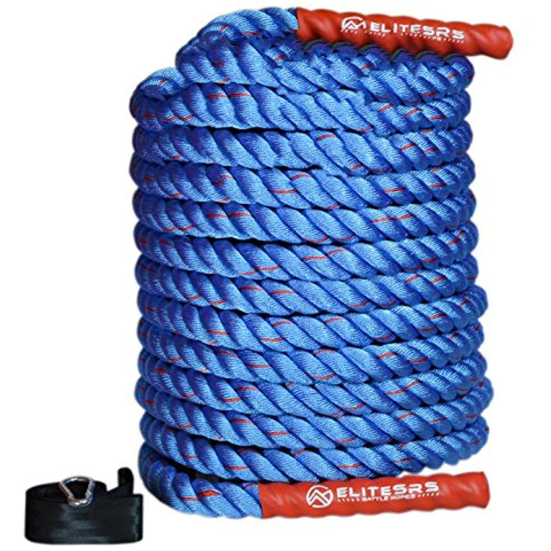 Elitesrs Premium Battle Rope Kit Fitness Anchor Strap Long Grip Right Handles Exercisefitnessaccessories Battle Ropes Workout Accessories Workout