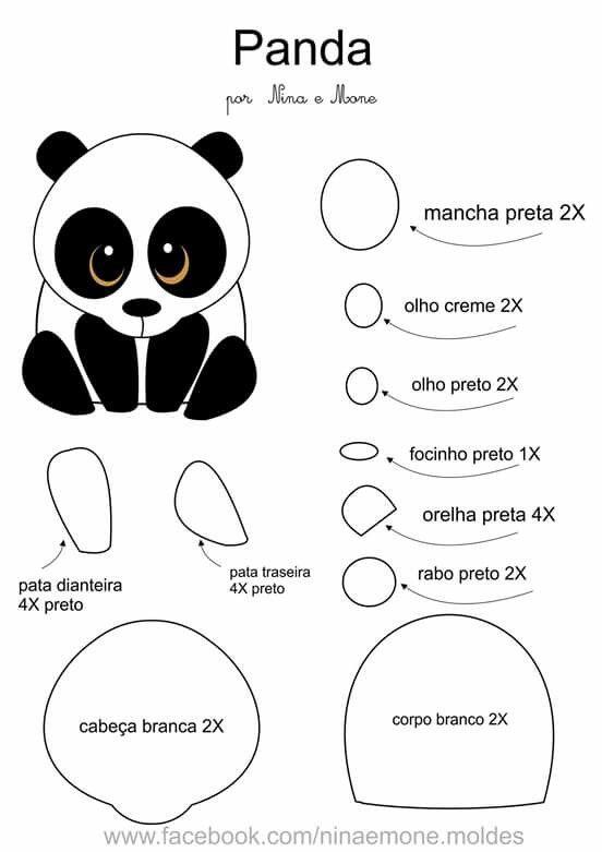 panda bear cake template - pin by allyson on felt projects pinterest pandas