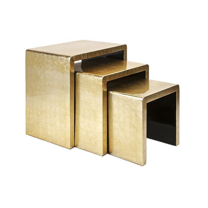 Palazzo Nesting Tables Set Of 3 Gold Nesting Tables Coffee Table Nesting Tables