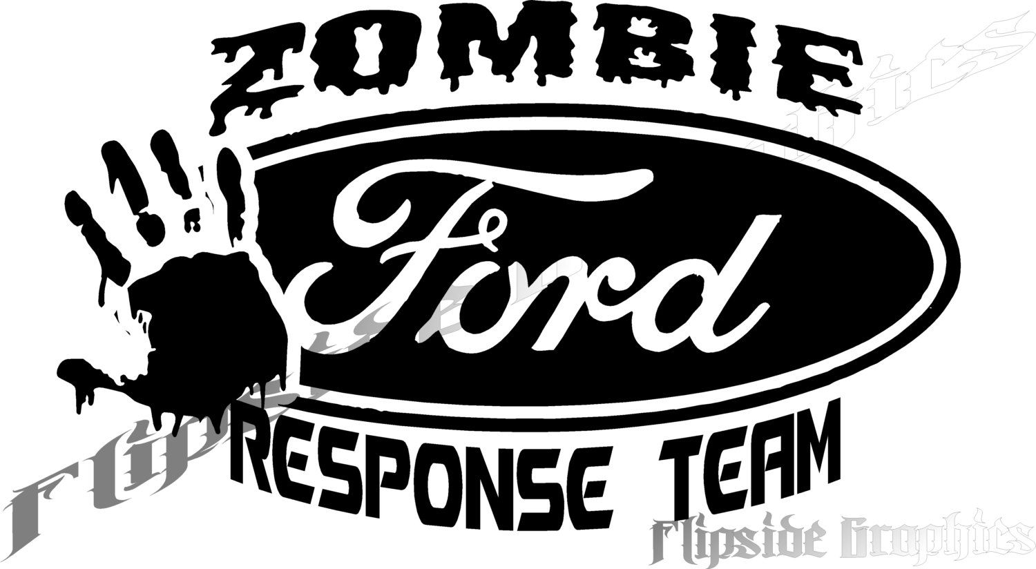 Custom Car Decals: Custom Zombie Response Decal Ford Trucks Cars Windows