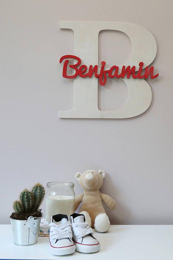 H lzerne buchstaben baby kinderzimmer wand h ngende good for Holzbuchstaben babyzimmer