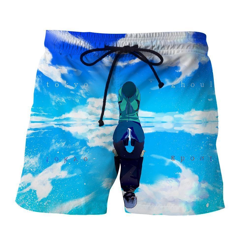 d4cdb60b79 KEN KANEKI SHADOW 3D SHORT - TOKYO GHOUL BEACH SHORTS   Products ...
