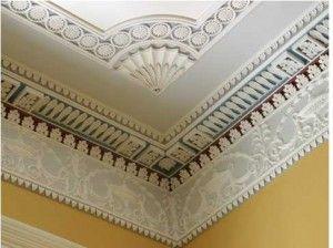 Ornate Crown Molding Gaillard Bennett House Charleston Ceiling Detail Ceiling Design Southern Style Homes