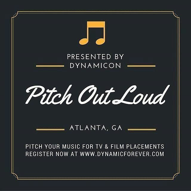 Pitch Out Loud presented by DYNAMICON will be held on April 23rd in Atlanta Ga - Pitch Your Music For TV & Film 10a  5p  Private Location  What to Expect Were bringing an expert in music licensing to spend the day talking all things music and licensing in order to help you the music creator get your music placed in television films games & digital media.  What Youll Learn: The Styles of Music Getting Licensed In 2016 Building Your Network in the Sync Community How to Pitch Your Music for…