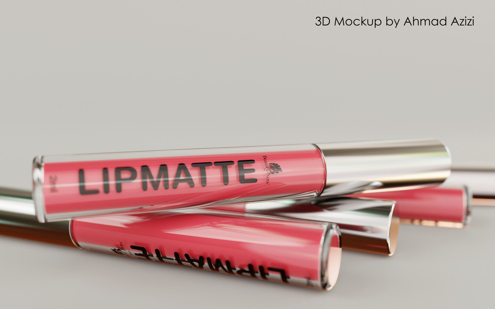 Lipmatte by Beauty Now by Ahmad AziziA 3D Mockup that i made for this product