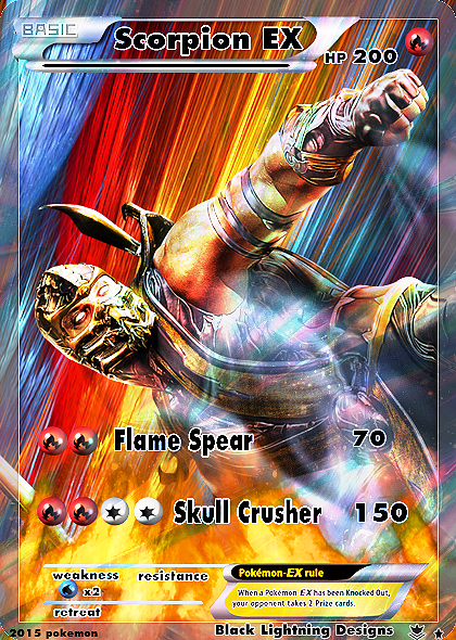This Is A Scorpion Full Art Pokemon Card I Created I Have Never Shared This Photo I Made This A While Back And Id Love Black Pokemon Black Lightning Pokemon